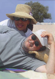 Juanita and husband Kevin at the beach